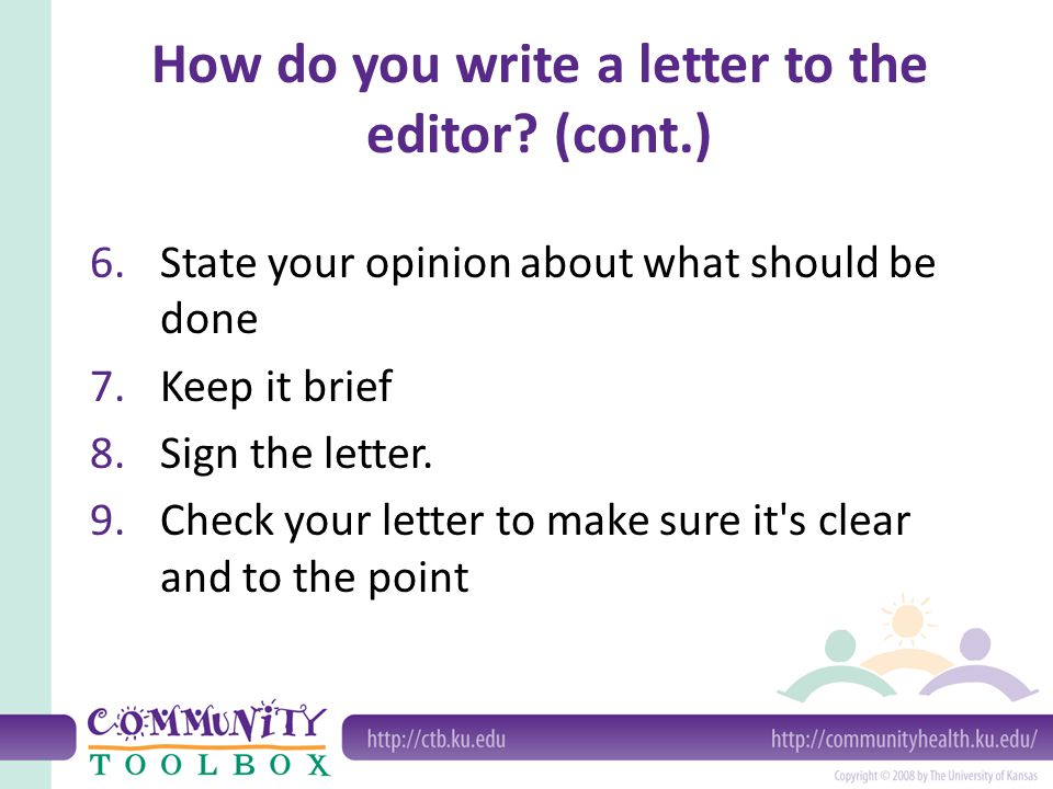 Writing Letters to the Editor What is a letter to the editor A