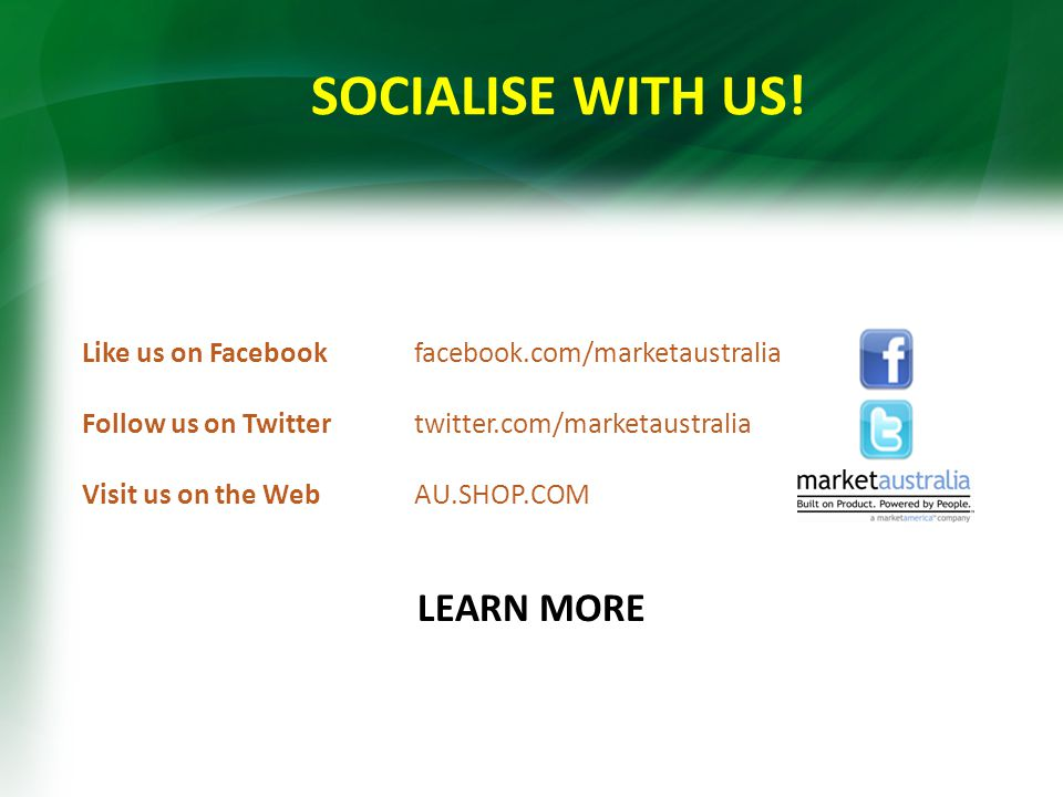 SOCIALISE WITH US.