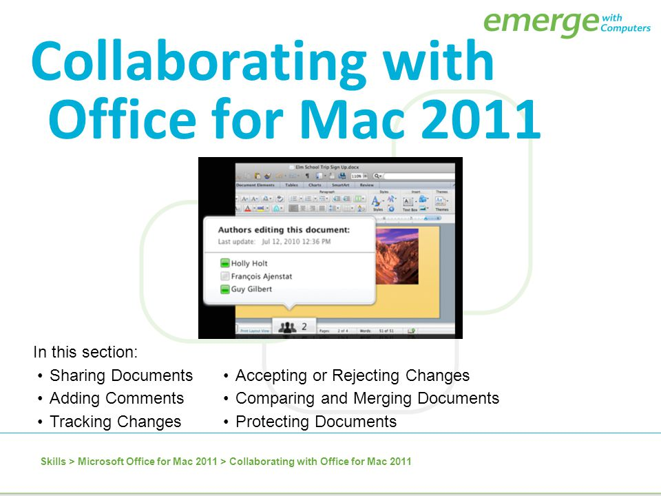 Microsoft Office for Mac 2011 Skills > Microsoft Office for