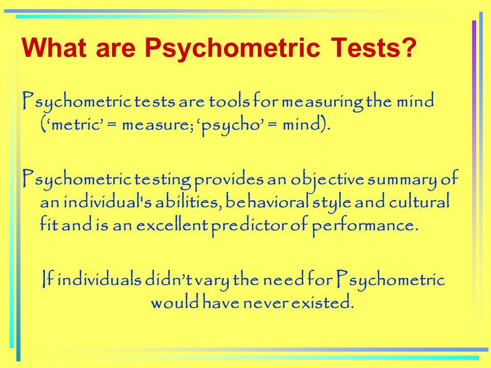 Psychometric Assessment An Unending Journey To Self Development