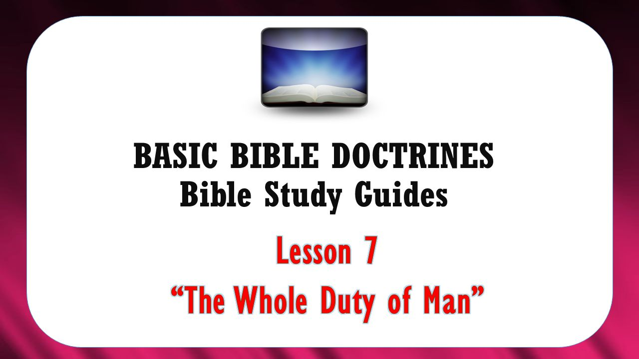 BASIC BIBLE DOCTRINES Bible Study Guides