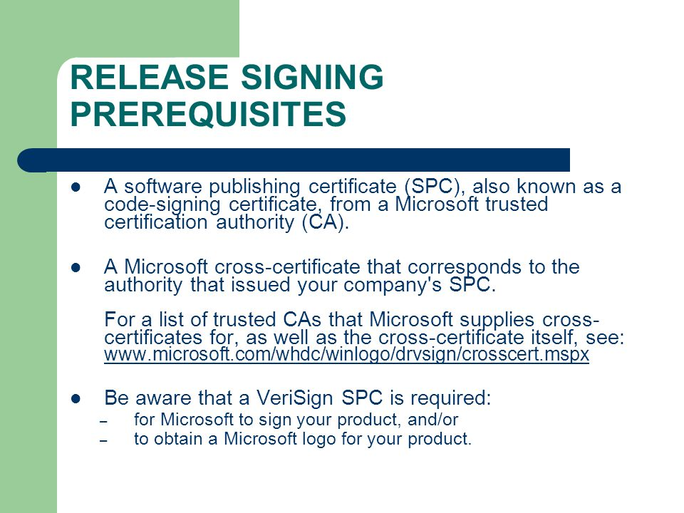 FILE SYSTEM DRIVER SIGNING Karlito Bonnevie Technical Writer