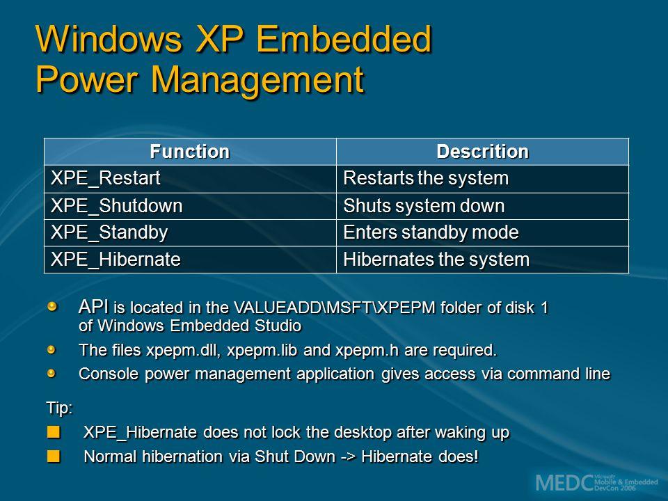 Boot XP Embedded in Under 10 Seconds Alexander Wechsler eMVP