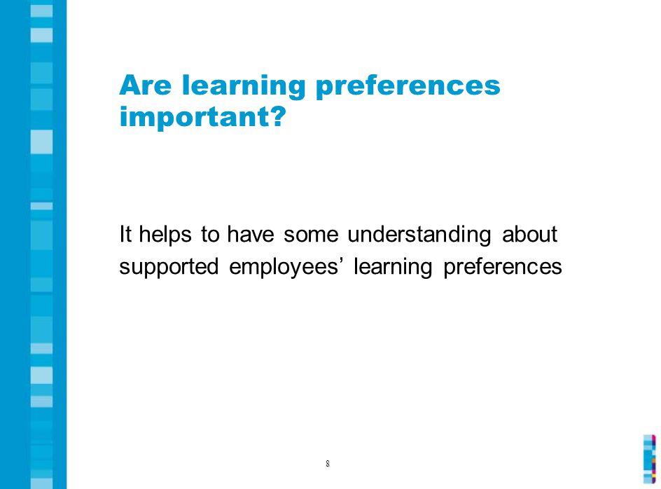 Are learning preferences important.