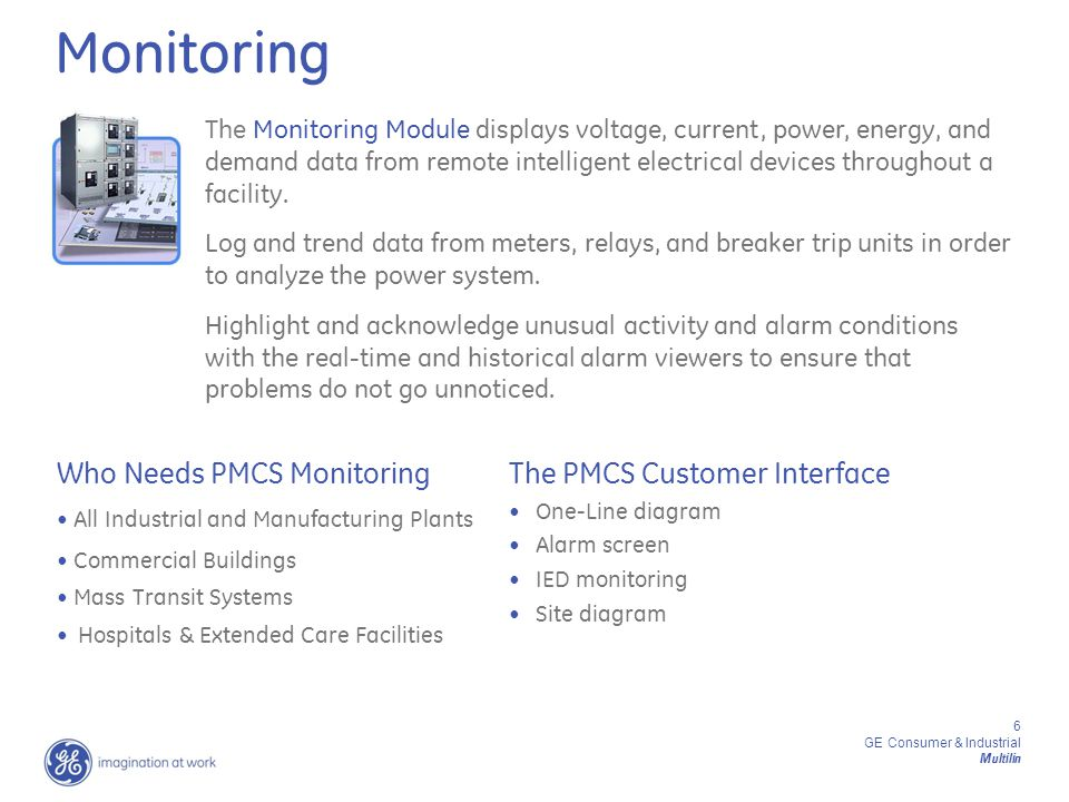 GE Consumer & Industrial Multilin PMCS Energy Management