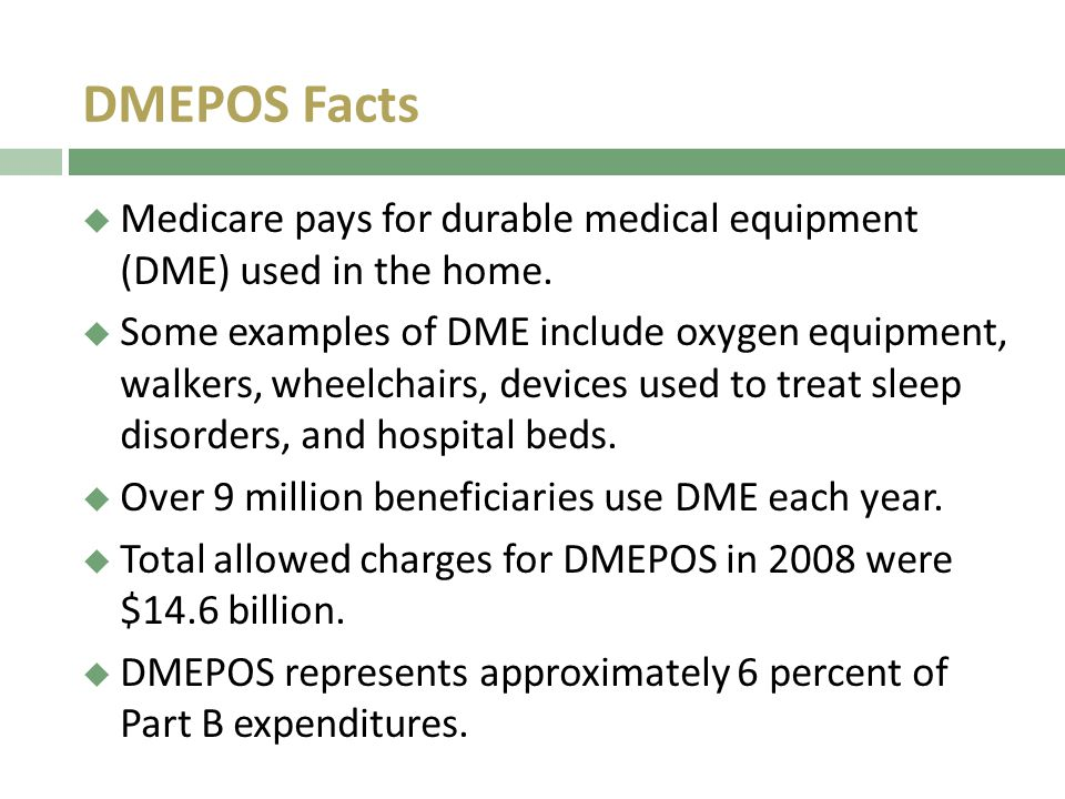 medicare durable medical equipment prosthetics orthotics and