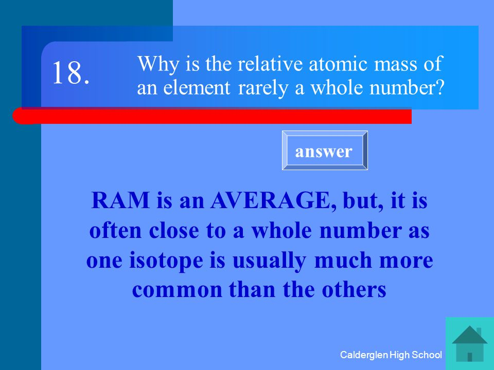 Calderglen High School What is the mass and charge of a neutron.