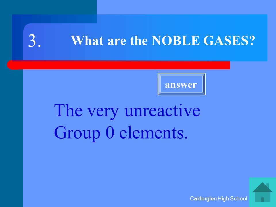 Calderglen High School What is similar about elements in the same group (column) of the periodic table.