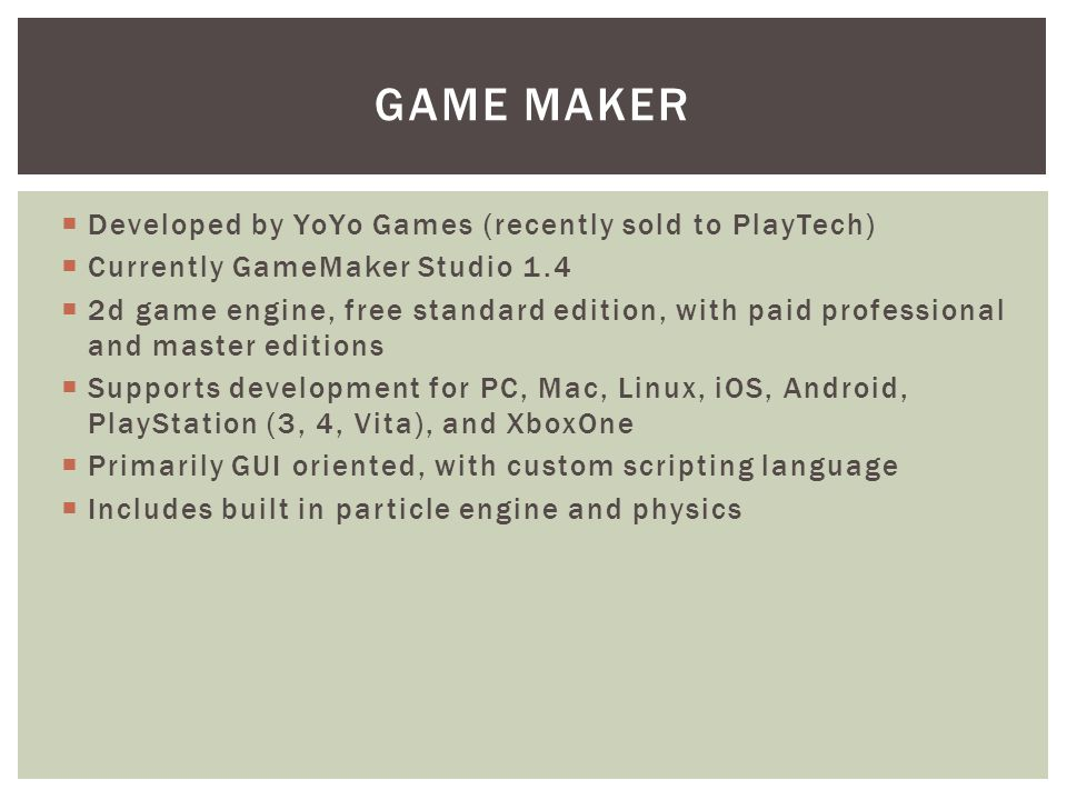 Ben Brown END USER PROGRAMMING FROM A CASE PERSPECTIVE: GAMEMAKER AS