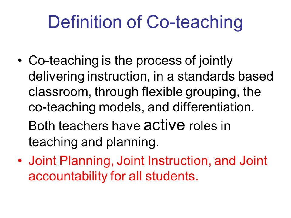 Co Teaching Differentiated Instruction Free User Guide