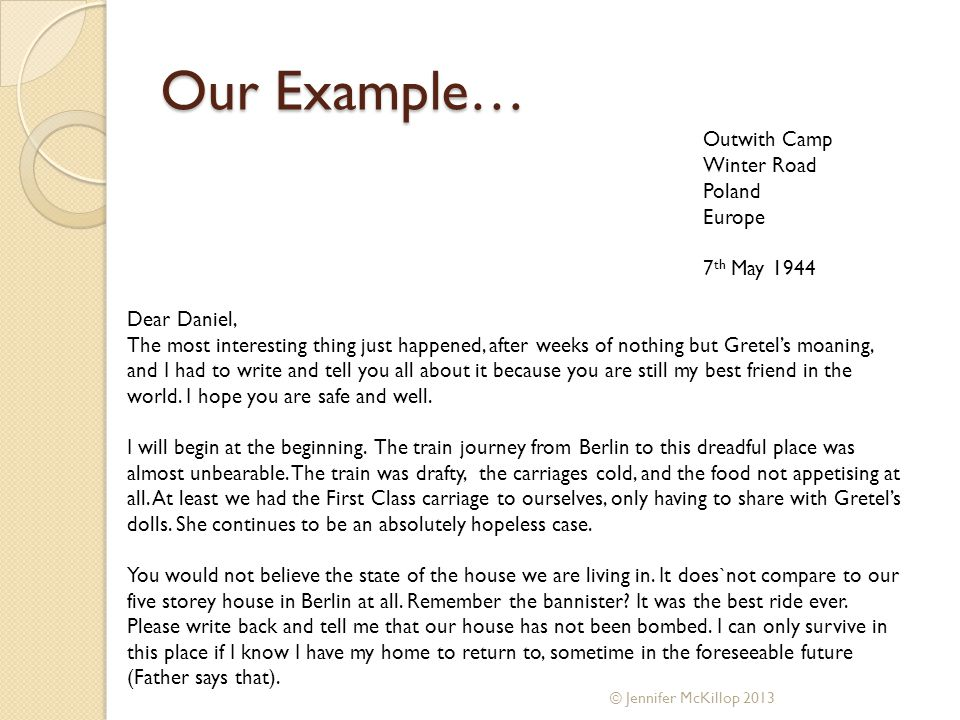 How to set out and write an informal letter context bruno is outwith camp winter road poland europe 7 th may 1944 dear daniel spiritdancerdesigns Images
