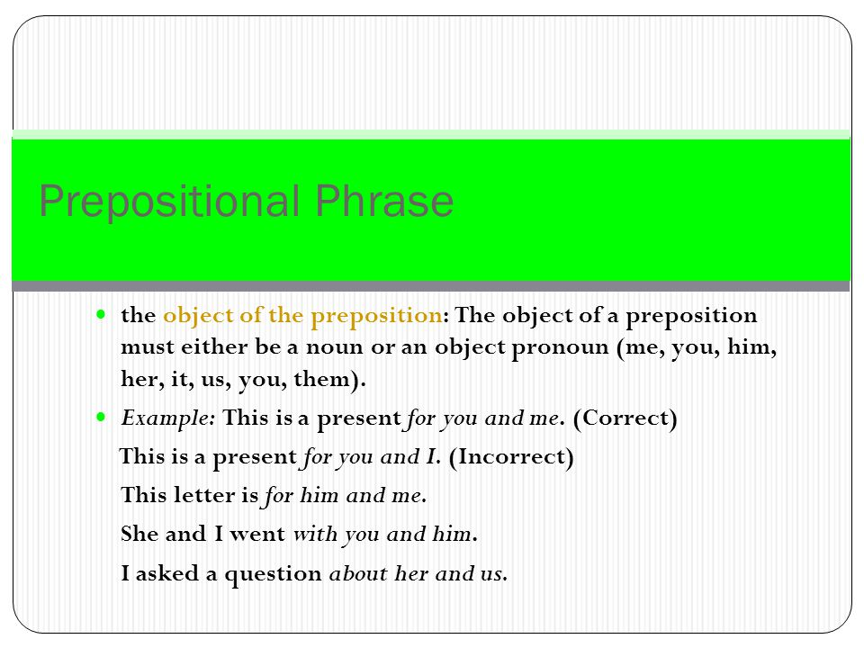 Prepositional Phrase Prepositional phrases behave as modifiers.
