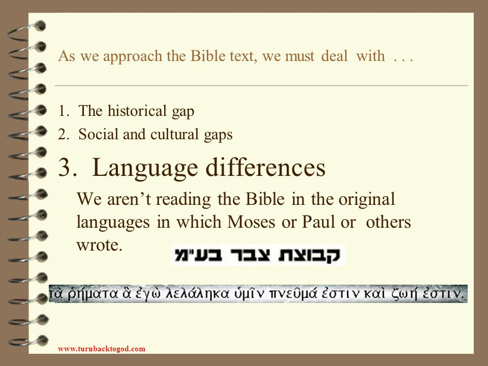 7 ideas for enriching Bible understanding The Bible is a