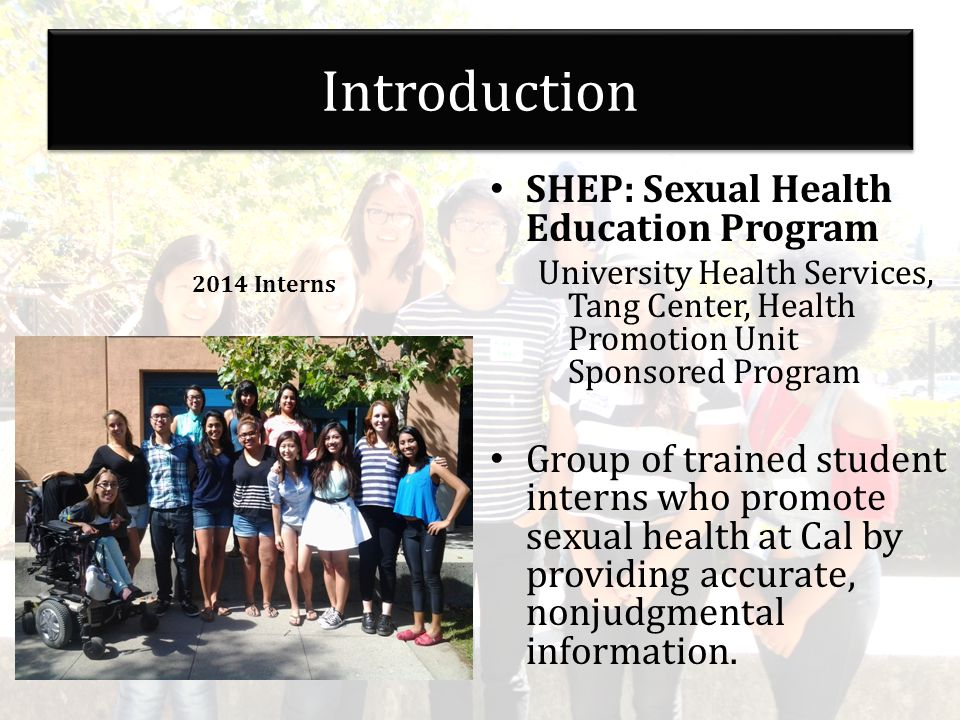 Sexual health promotion service