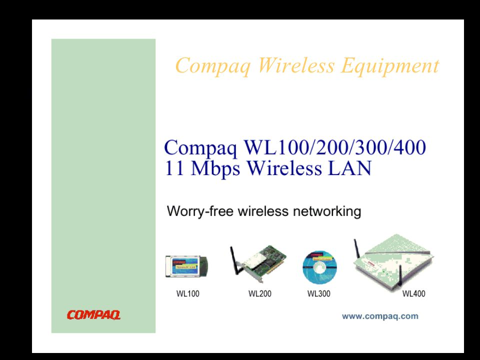 COMPAQ WL100 11MBPS WIRELESS LAN PC CARD WINDOWS 8.1 DRIVERS DOWNLOAD