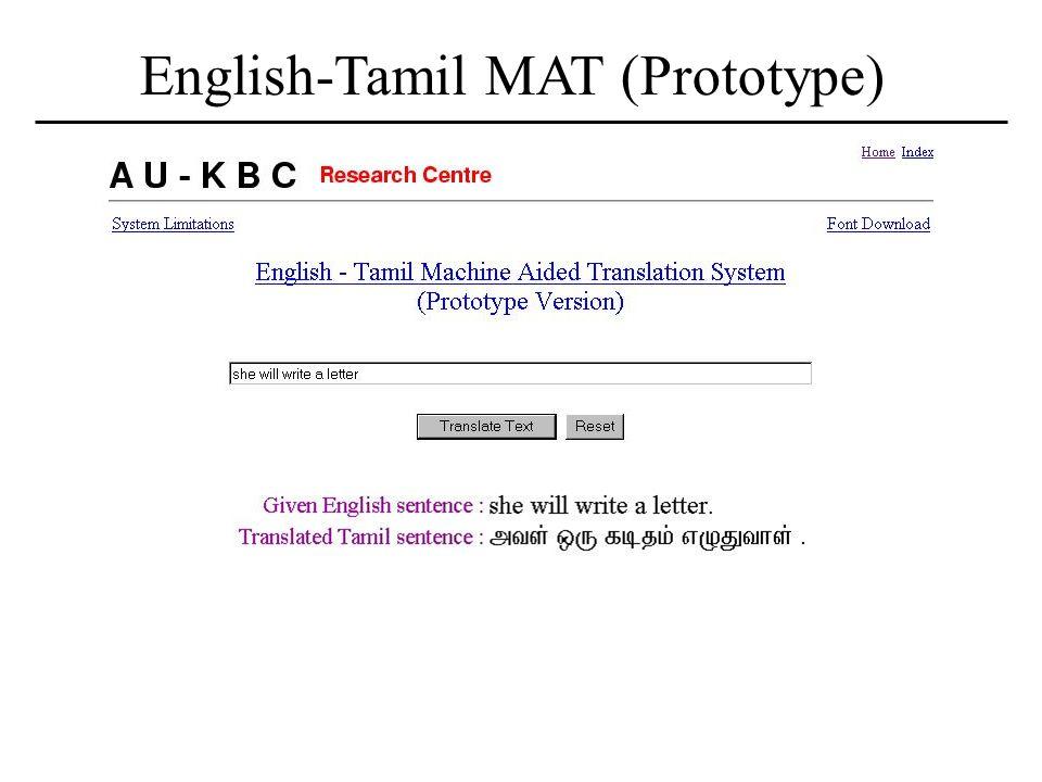 Machine Translation Indo-German Workshop on Language