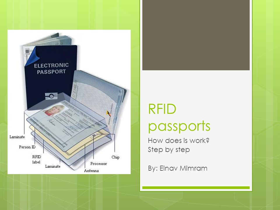 RFID passports How does is work Step by step By: Einav Mimram
