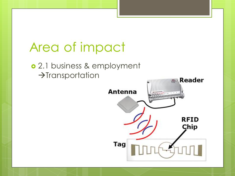 Area of impact  2.1 business & employment  Transportation