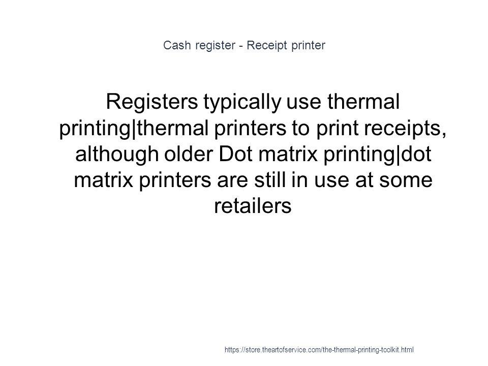 Thermal printing - ppt download
