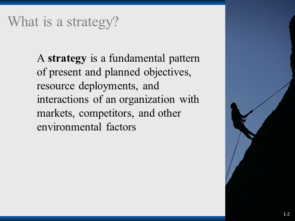 1-2 What is a strategy.