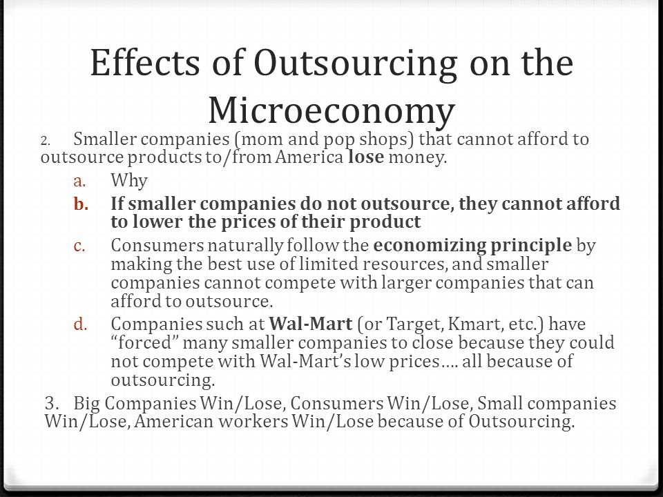 outsourcing effects on america