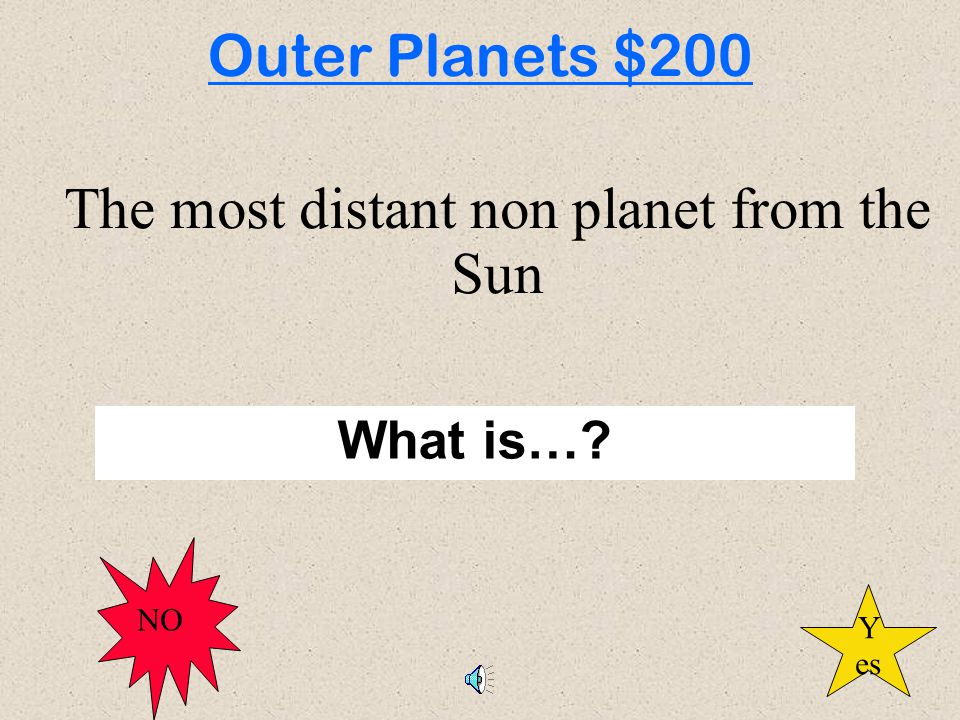 Inner Planets Outer Planets Classify ClassifyMe Pot Pourri Star or Planet
