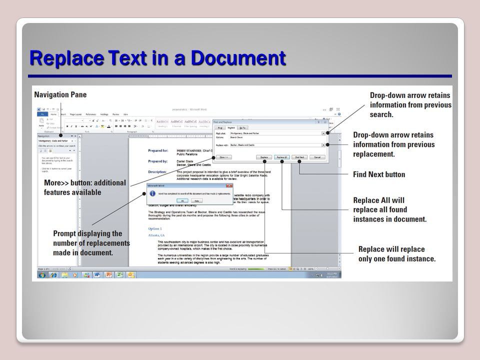 Replace Text in a Document
