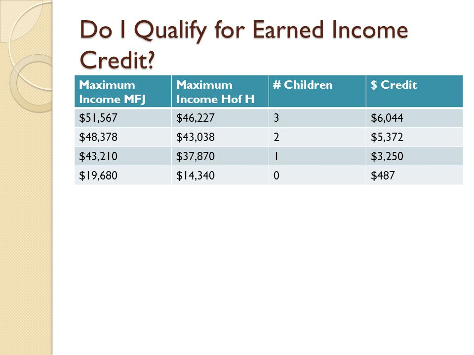 Do I Qualify for Earned Income Credit.
