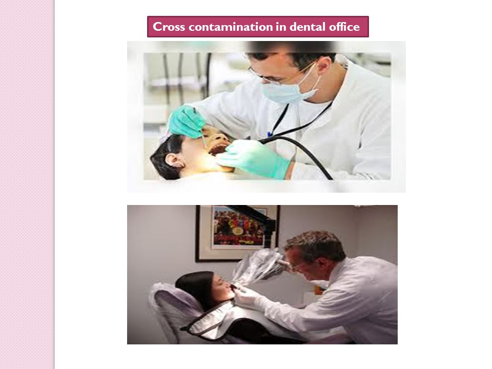 Cross contamination in dental office