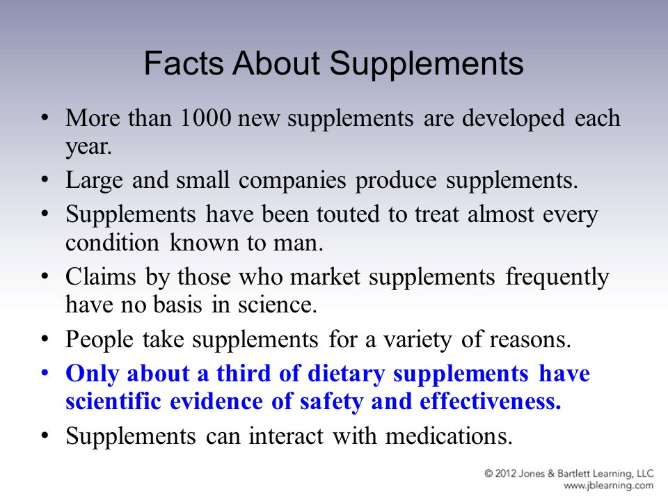 CHAPTER 7 DIETARY SUPPLEMENTS  Chapter Objectives Define and