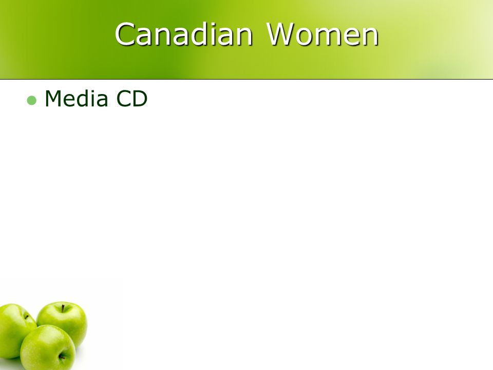 Canadian Women Media CD