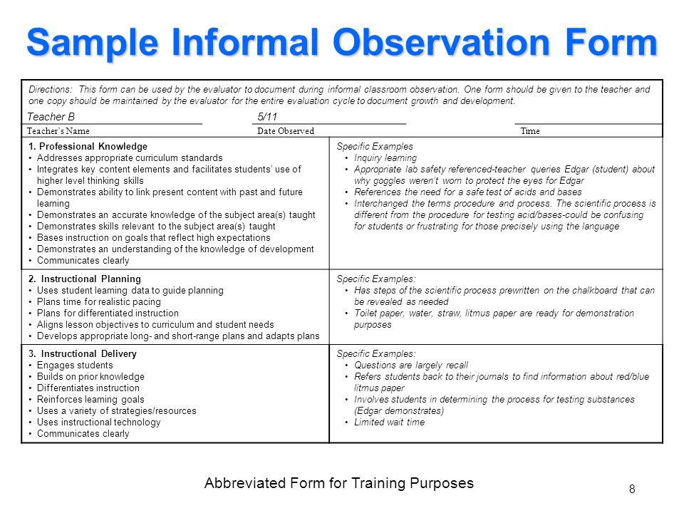 0 Teacher Performance Evaluation System Data Sources August