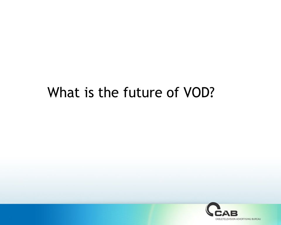 What is the future of VOD