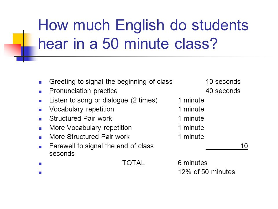 Developing classroom English for teachers from Japan using