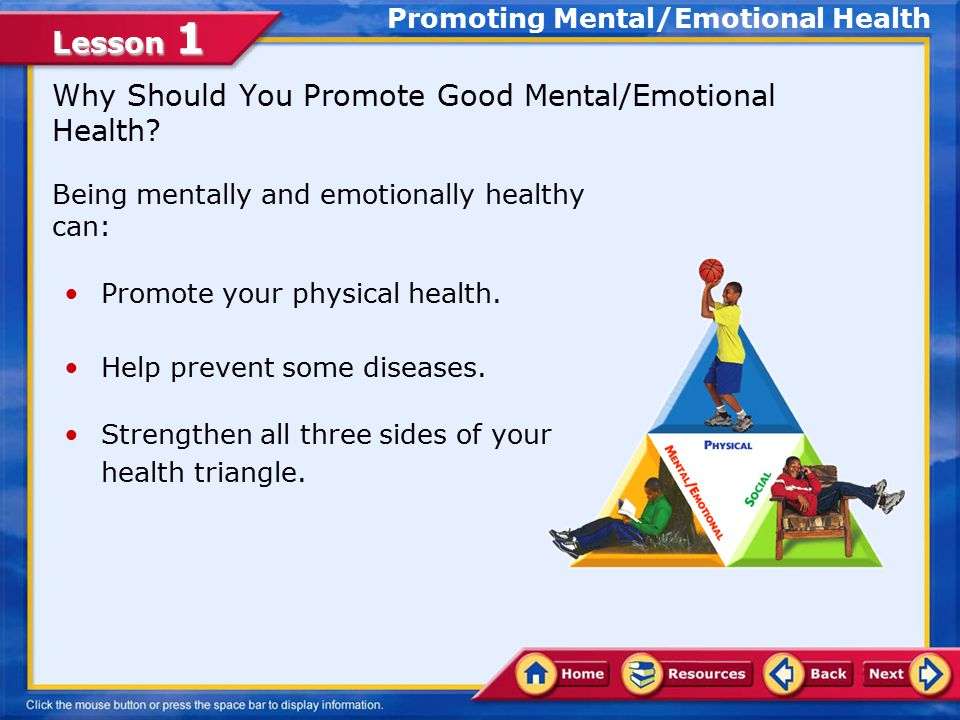 Lesson 1 Personality and Behavior Different factors affect your levels of physical and mental/emotional health.