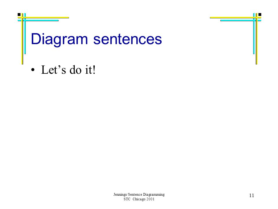 Sentence Diagramming For Fun And Profit Ann Jennings