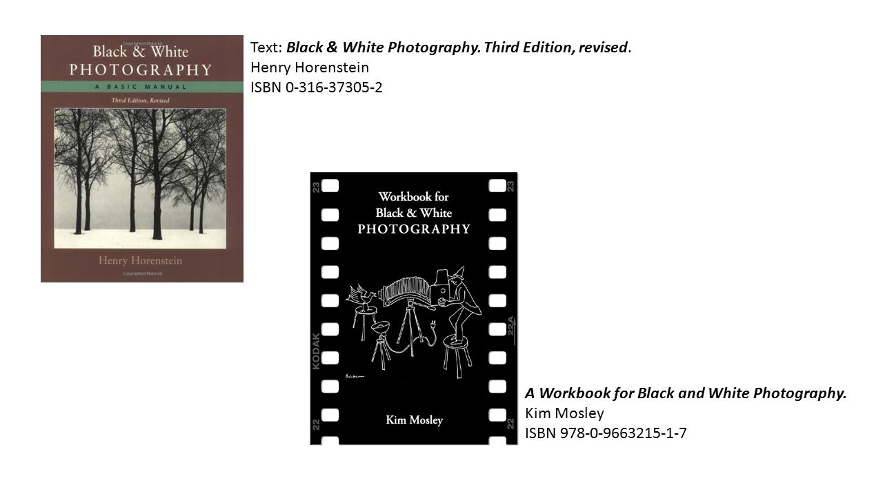 Text black white photography third edition revised