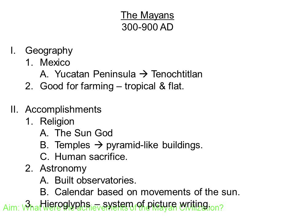 Top Five Mayans Achievements - Circus