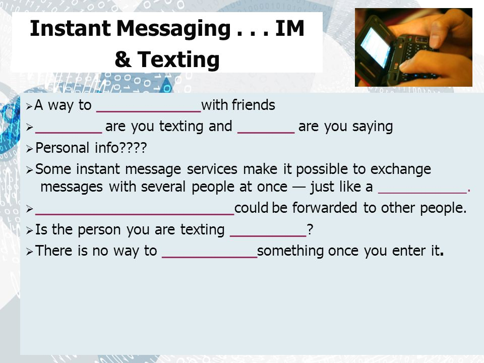 Instant Messaging...