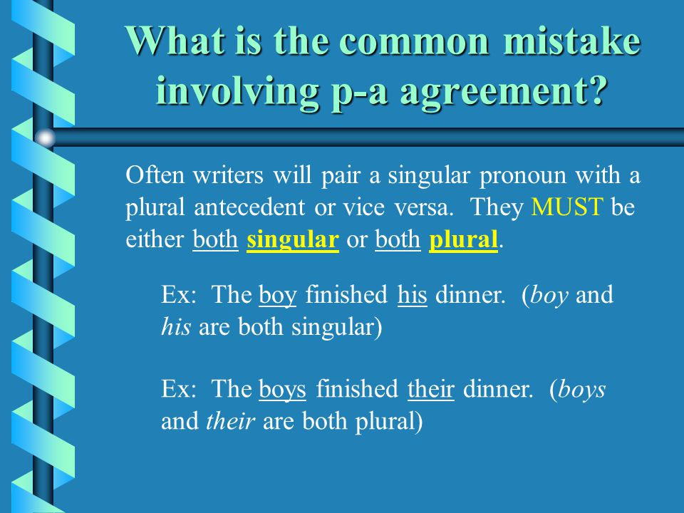 Pronoun Antecedent Agreement What Are Pronouns And Antecedents A