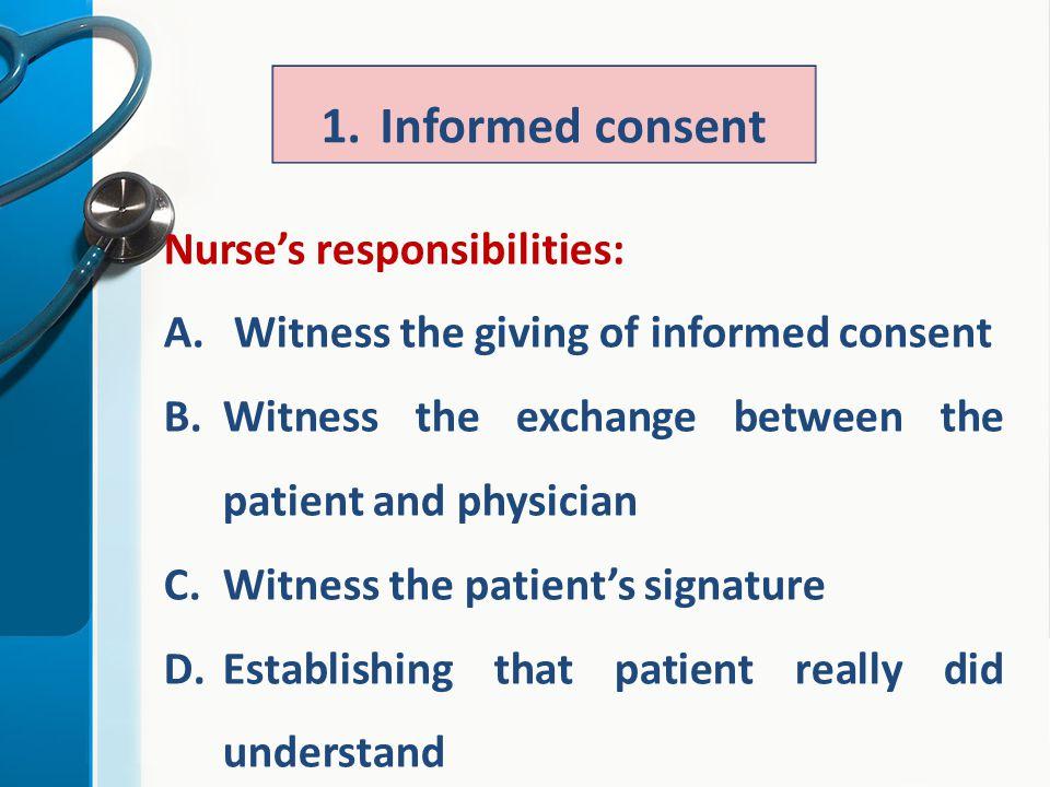 informed consent in nursing