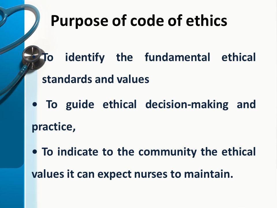 Code ethics nurse of American Nurses