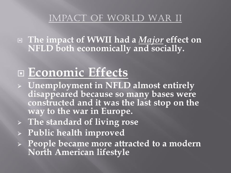 the effects of world war ii on america America was a late entry into the war it remained neutral until 1941 president franklin d roosevelt had adopted a neutral policy that kept the country out of the war the us did, however.