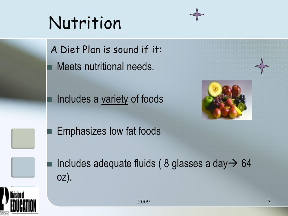 20093 Nutrition Meets nutritional needs.
