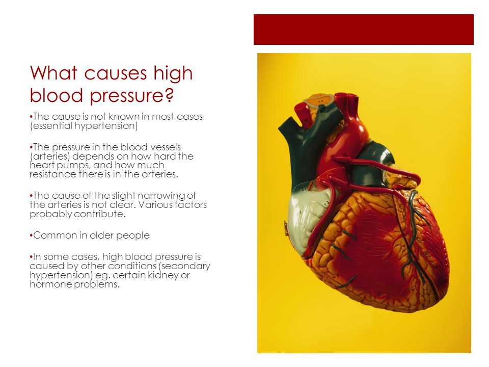 What causes high blood pressure.