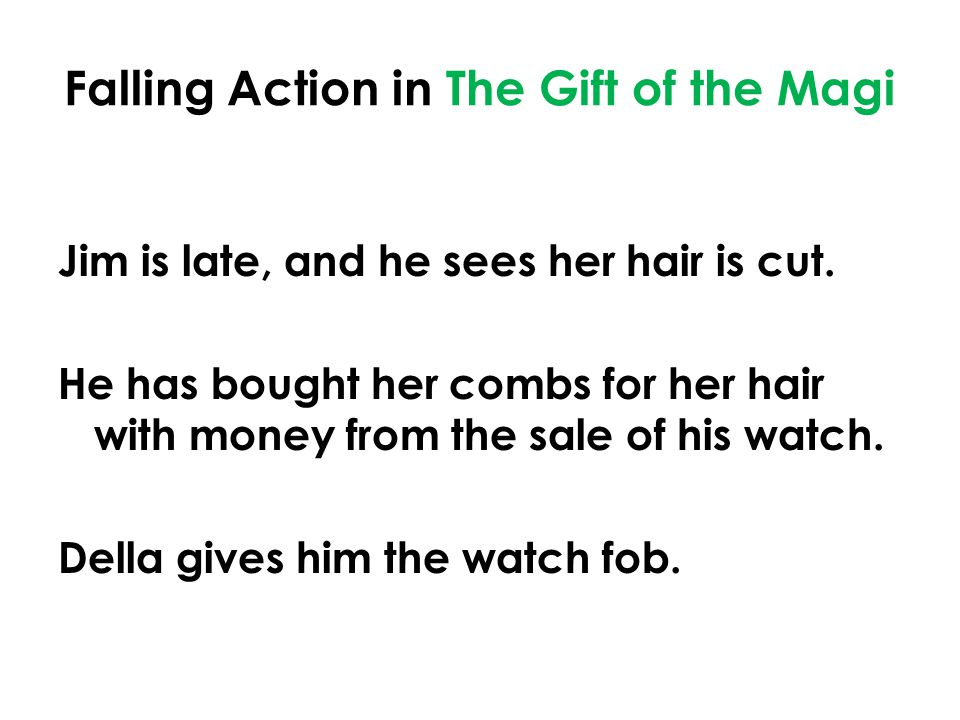 the gift of the magi falling action