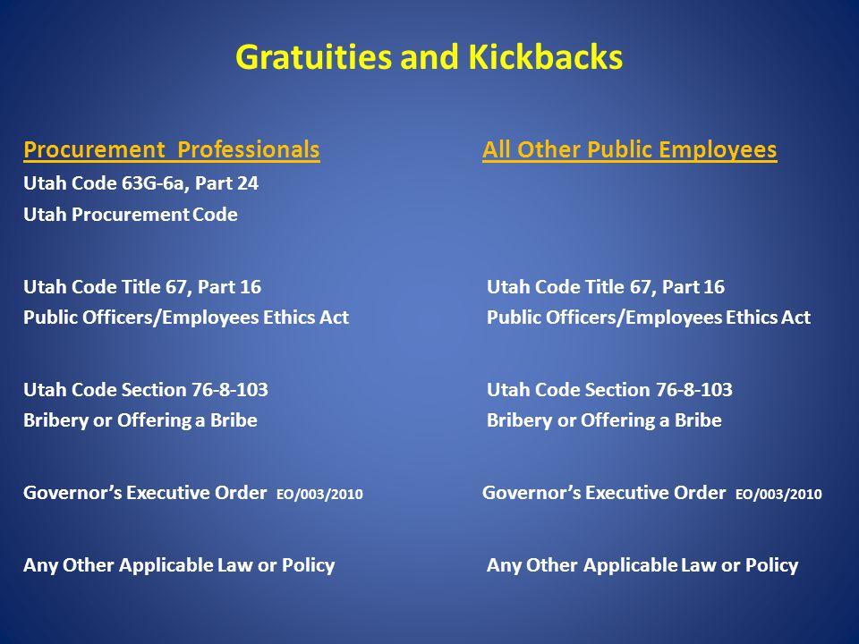 Utah Division of Purchasing Procurement Code Training