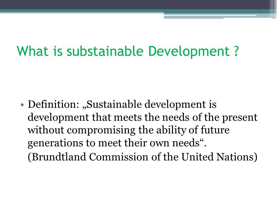 Sustainable Development Definition