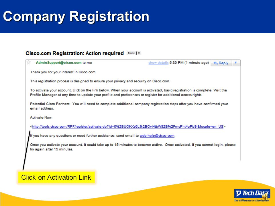 Getting Registered WithCISCO Creating your Login Creating your Login