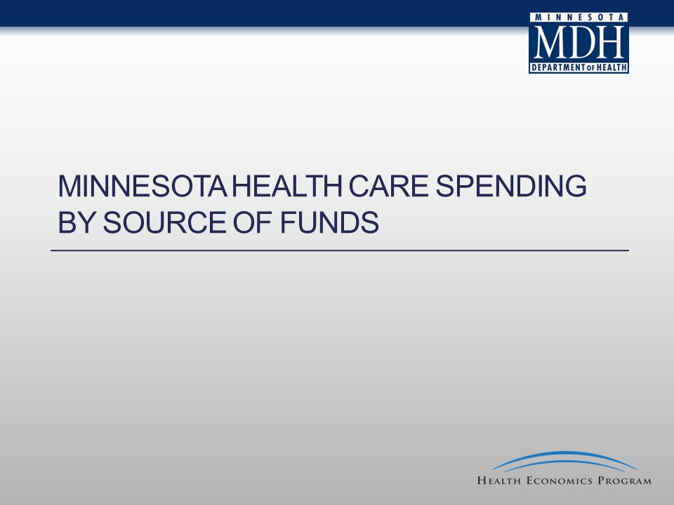 MINNESOTA HEALTH CARE SPENDING BY SOURCE OF FUNDS